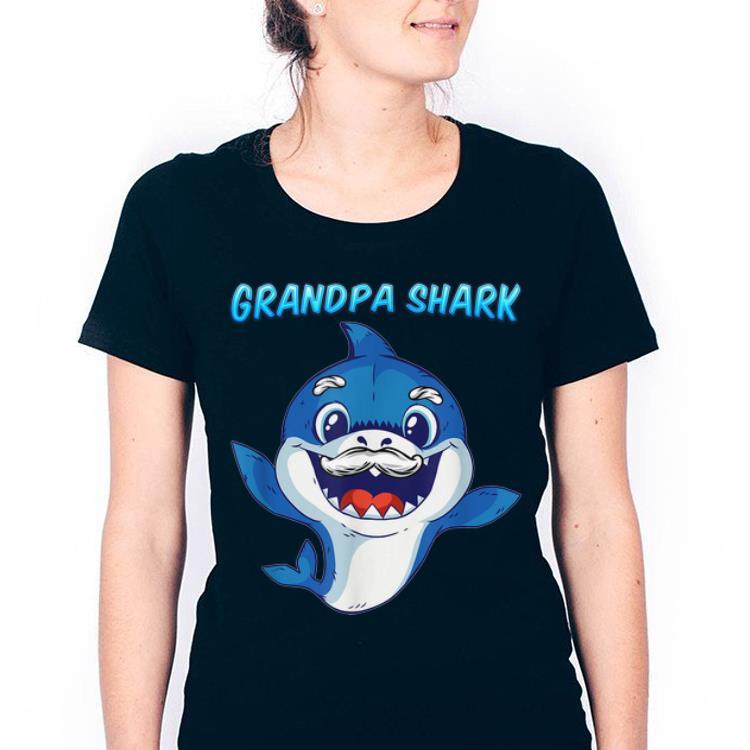Official Grandpa Shark Daddy Shark Blue Shark Shirt 3 1.jpg