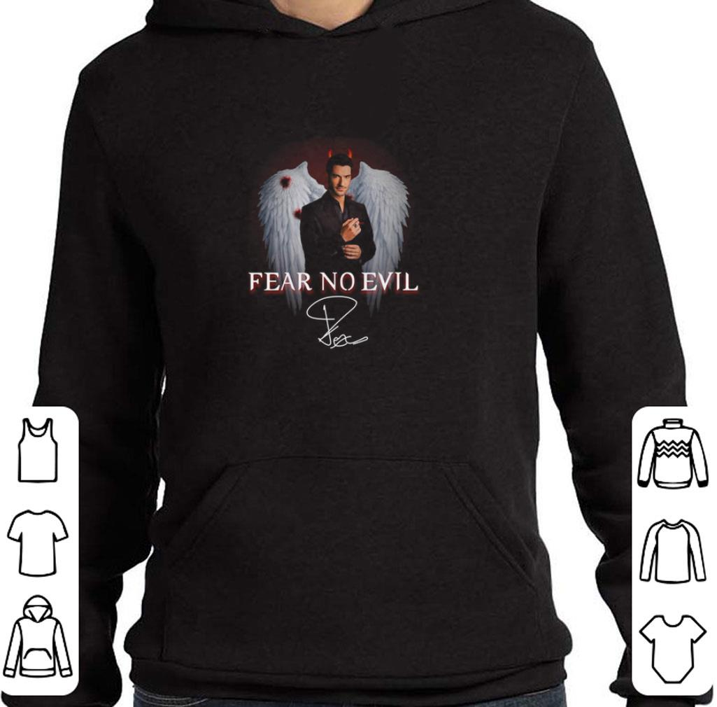 Official Lucifer Fear no evil Tom Ellis signature shirt