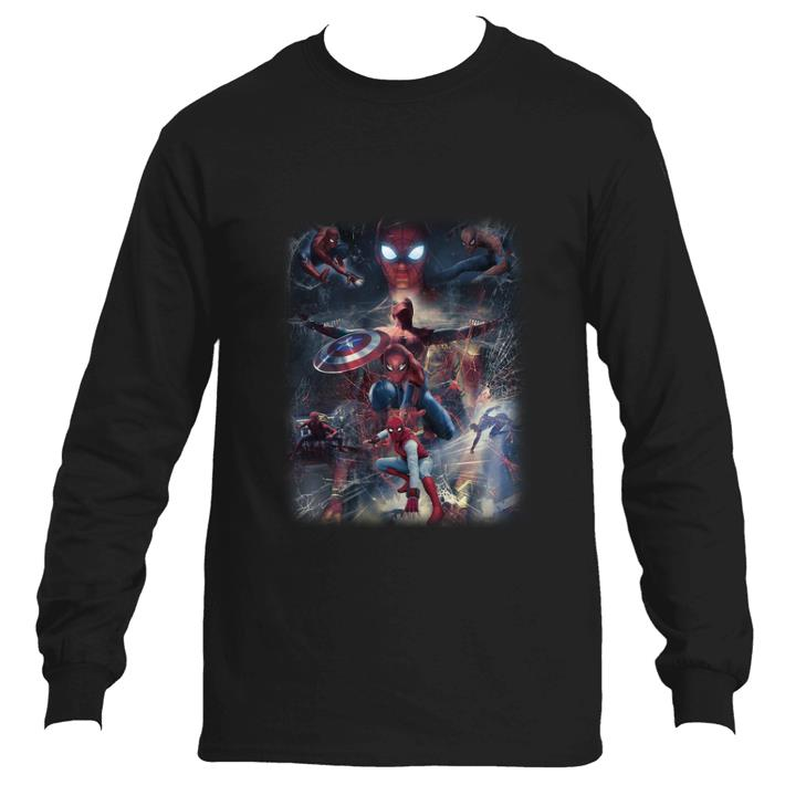 Official Marvel Spider Man Far From Home and Captain America Shield shirt