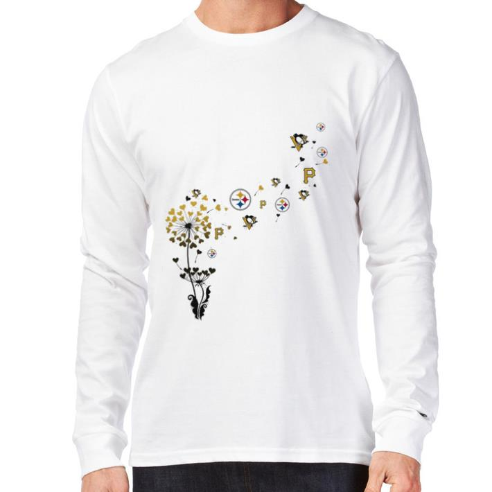 Official Pittsburgh Steeler Pittsburgh Pirates Pittsburgh Penguins dandelion shirt