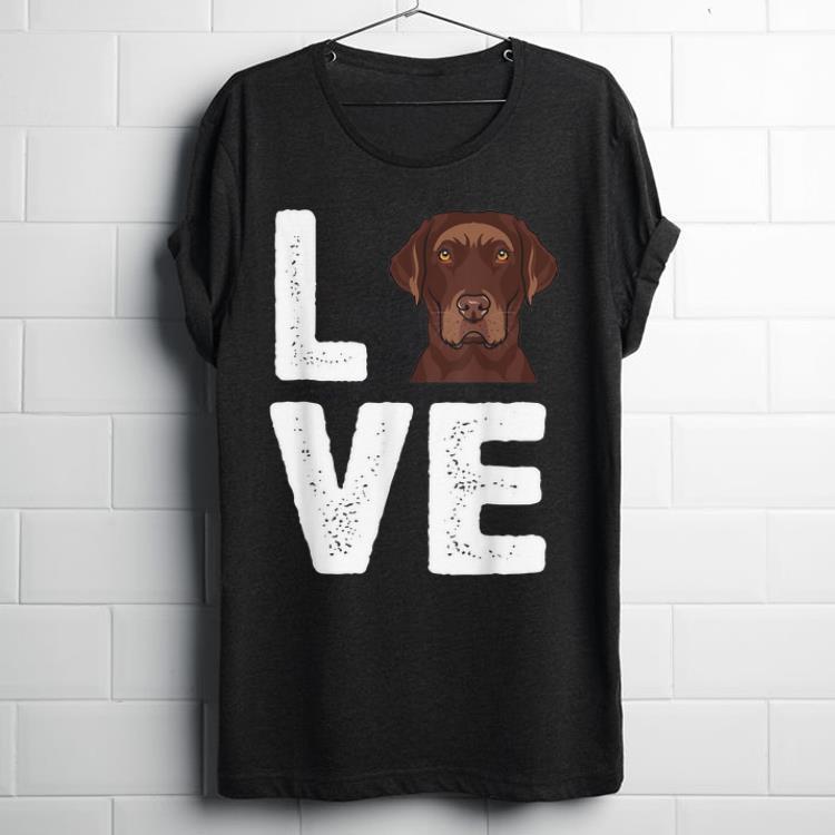 Original Chocolate Labrador I Love My Chocolate Lab shirt