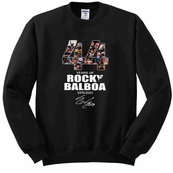 Premium 44 years of Rocky Balboa 1976-2020 signature shirt