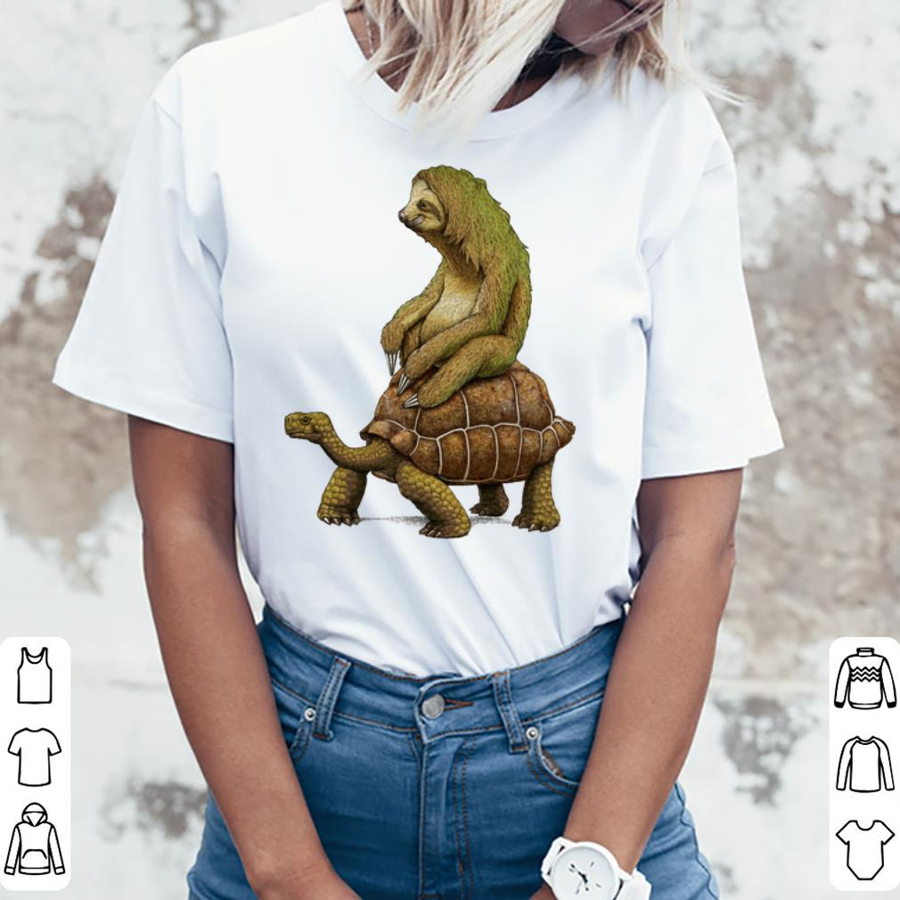 Premium Speed Is Relative Sloth And Turtle Moving Slowly Shirt 3 1.jpg