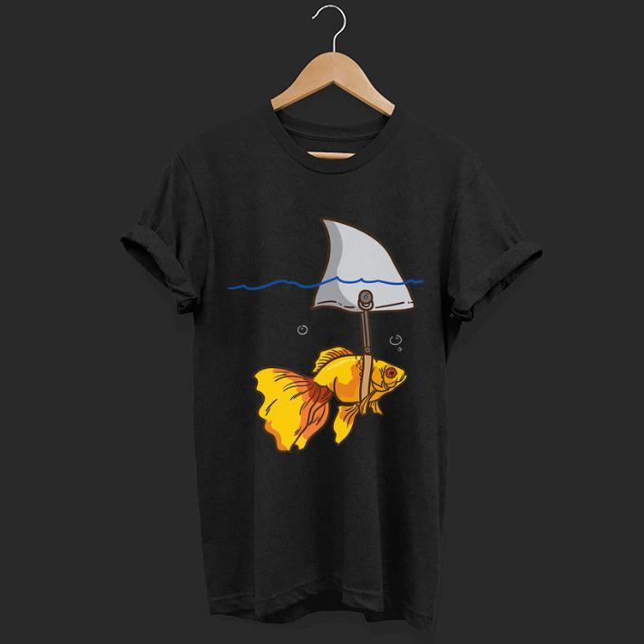 Pretty Fake Shark Goldfish Protect Yourself shirt