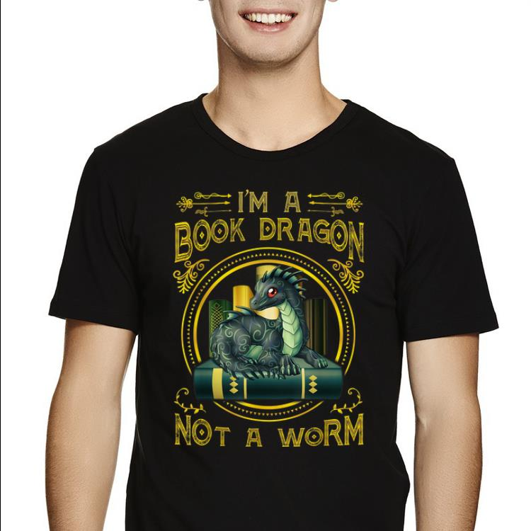 Pretty I Am A Book Dragon Not A Worm Reading Lover Book Lover Shirt 2 1 1.jpg