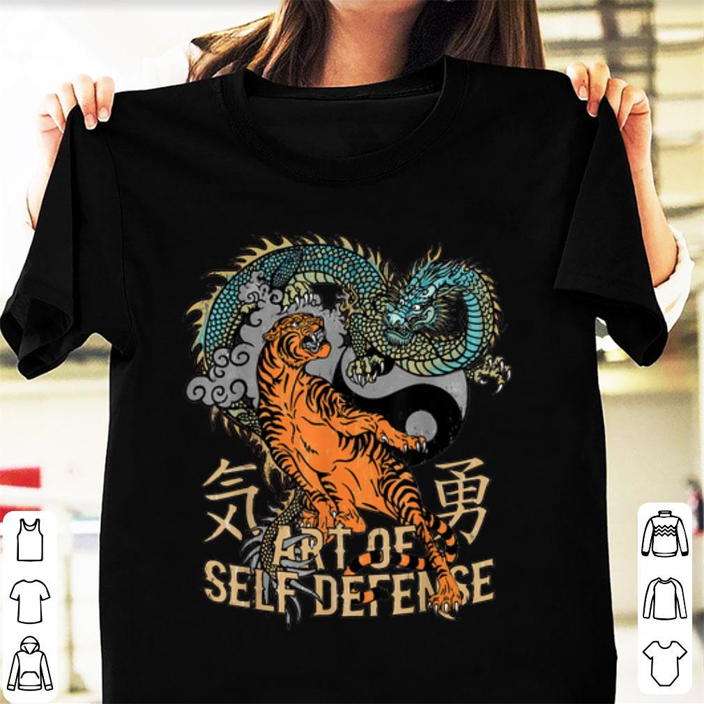 Top Art Of Self Defense Yin Yang Tiger and Dragon shirt