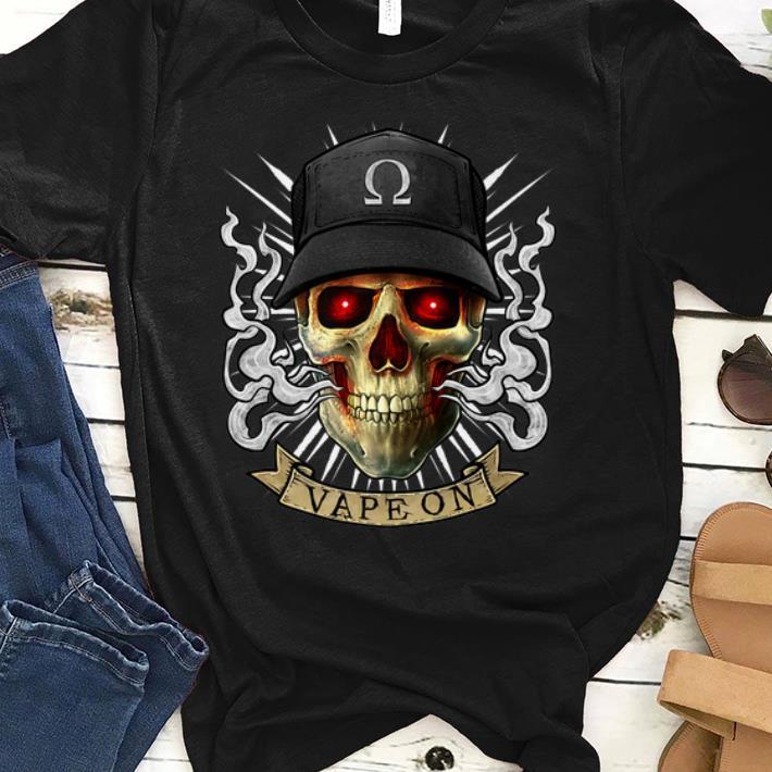 Top Vaping Skull E-Cigarette Cloud Chaser Vape shirt