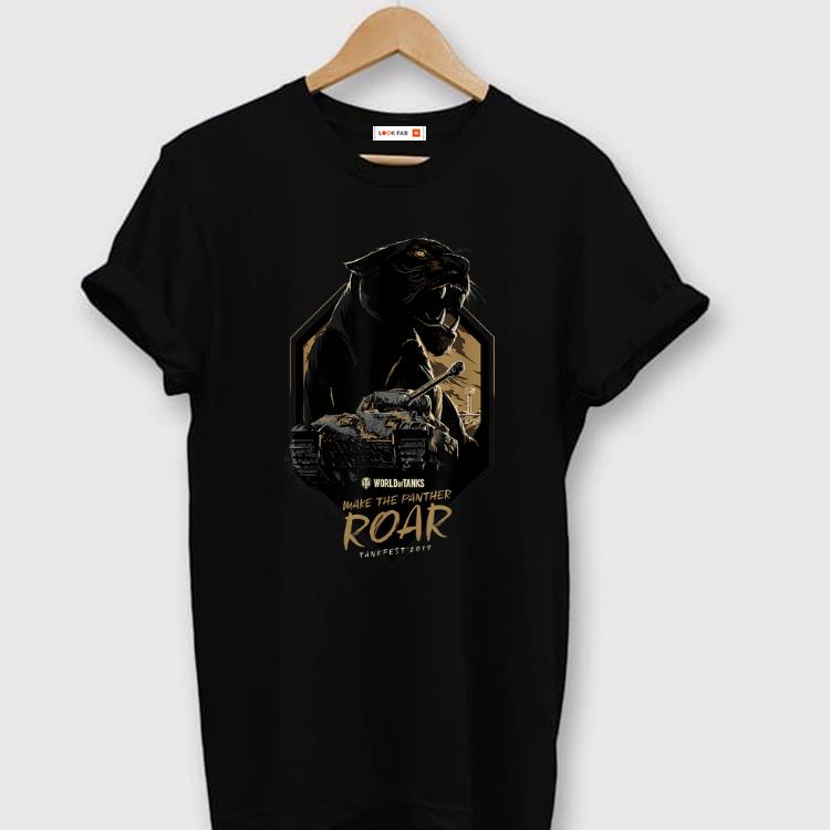 Top World of Tanks Make the Panther Roar Tankfest Black Panther shirt