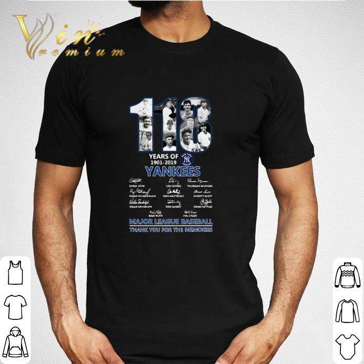 118 Years Of New York Yankees 1901 2019 Signatures Shirt 2 1.jpg