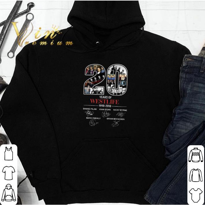 20 years of Westlife 1998-2018 signatures shirt