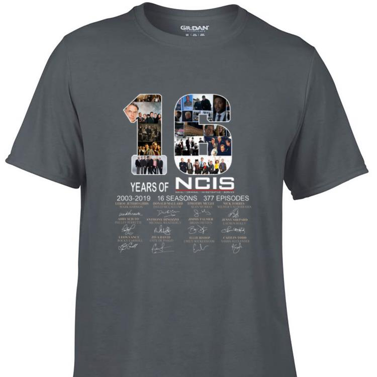 Awesome 16 Years Of NCIS 2003 - 2019 Signature shirt