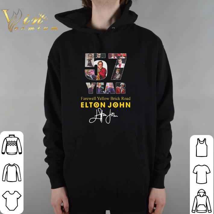 Awesome 57 Years Farewell Yellow Brick Road Elton John signature shirt
