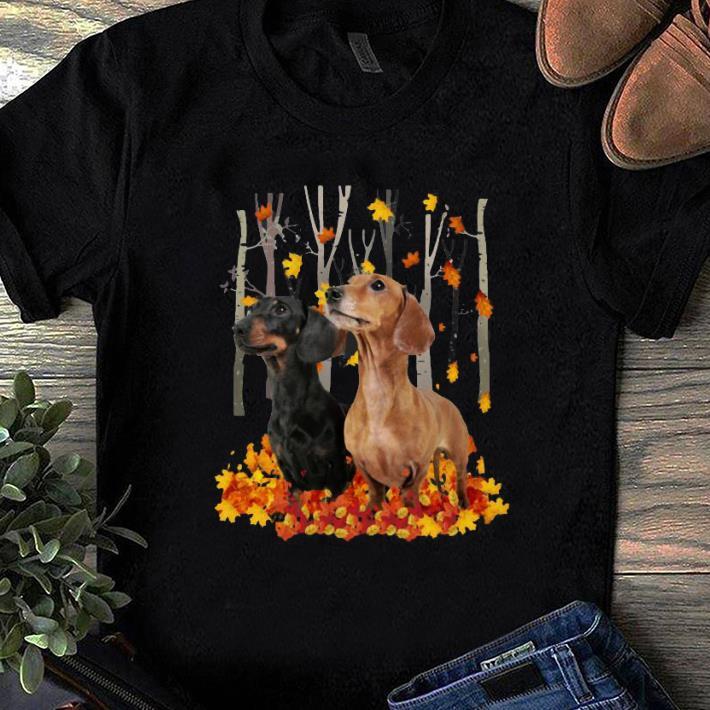 Awesome Dachshund autumn forest shirt