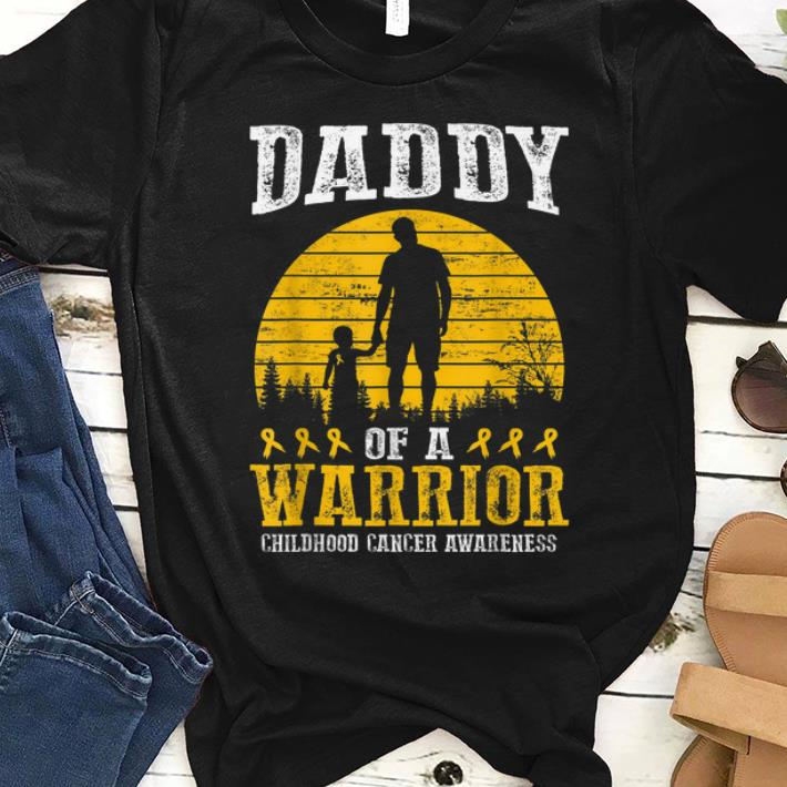 Awesome Daddy Of A Warrior Childhood Cancer Awareness shirt