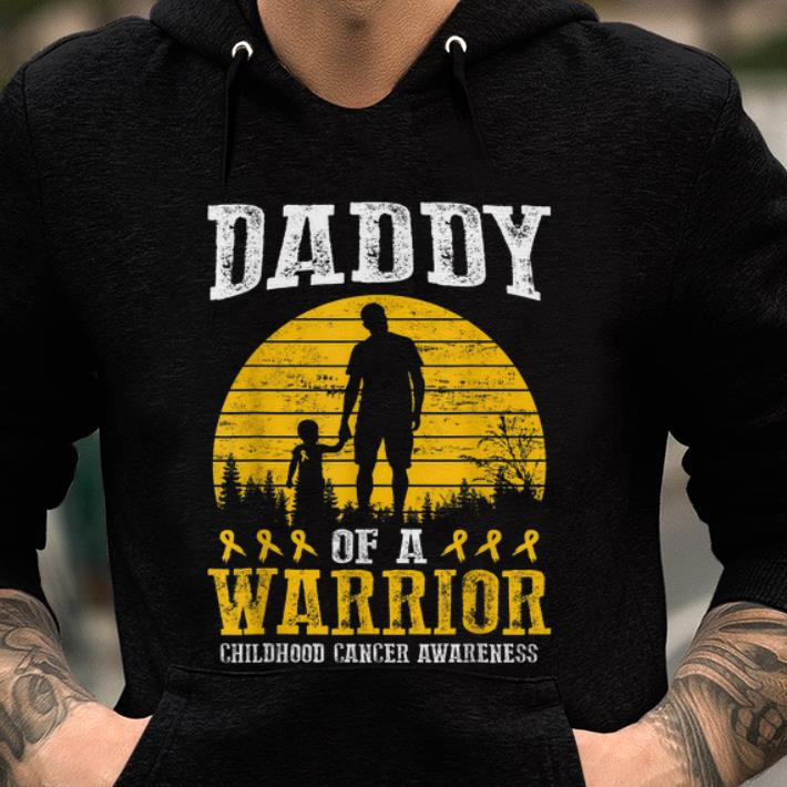 Awesome Daddy Of A Warrior Childhood Cancer Awareness Shirt 2 1.jpg