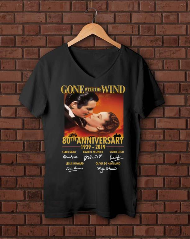 Awesome Gone With The Wind 80th Anniversary 1939 2019 Signature Shirt 1 1.jpg
