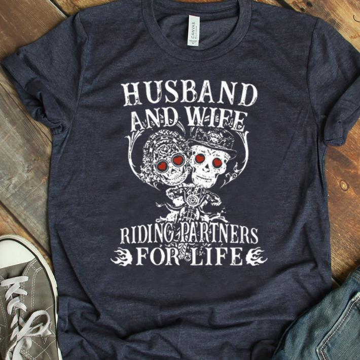 Awesome Husband And Wife Riding Partners For Life Shirt 1 1.jpg