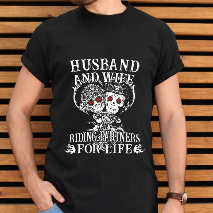 Awesome Husband And Wife Riding Partners For Life Shirt 2 1.jpg