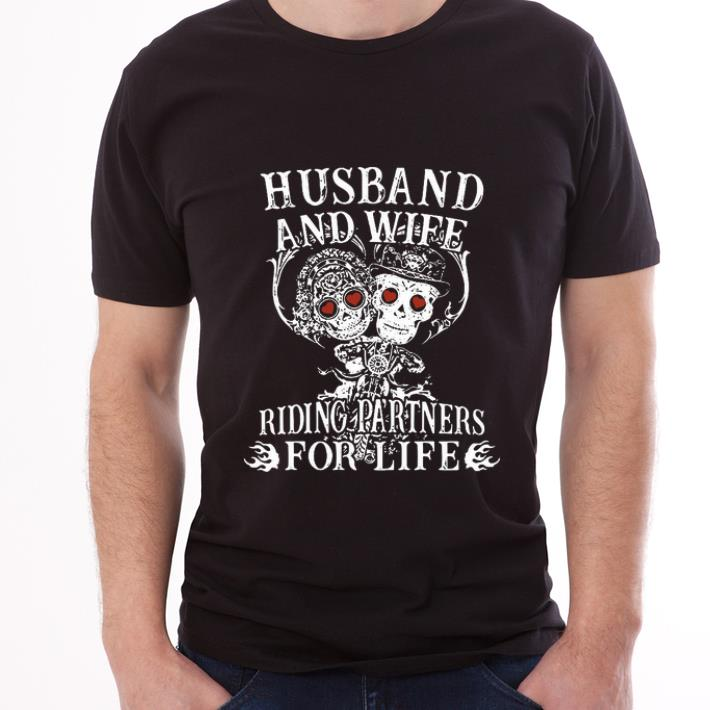 Awesome Husband And Wife Riding Partners For Life Shirt 3 1.jpg