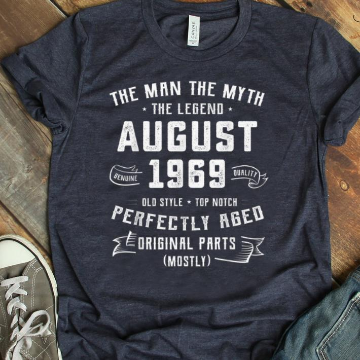 Awesome The Man Myth Legend August 1969 Birthday 50 Years Old Shirt 1 1.jpg