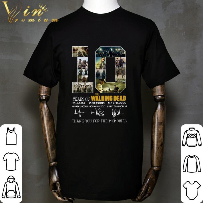 Funny 10 Years Of The Walking Dead 2010 2020 Signatures Shirt 1 1.jpg