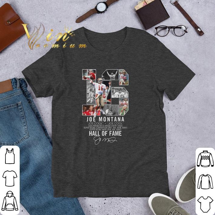 brand new 90d57 40ce8 Funny 16 Joe Montana Joe cool San Francisco 49ers signature shirt