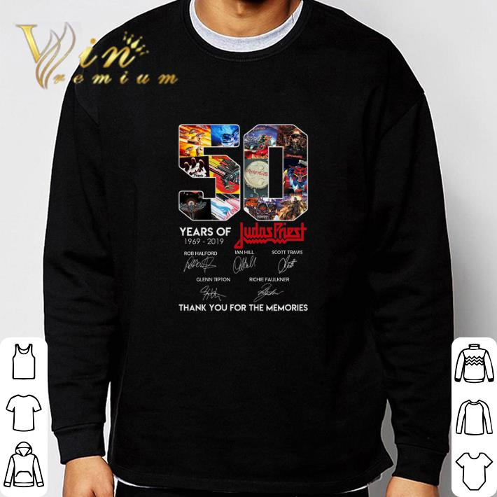 Funny 50 Years of Judas Priest signature thank you for the memories shirt
