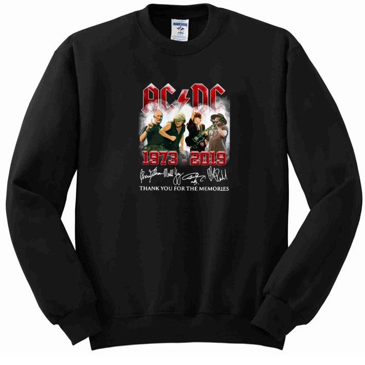 Funny ACDC 1973-2019 signatures thank you for the memories shirt