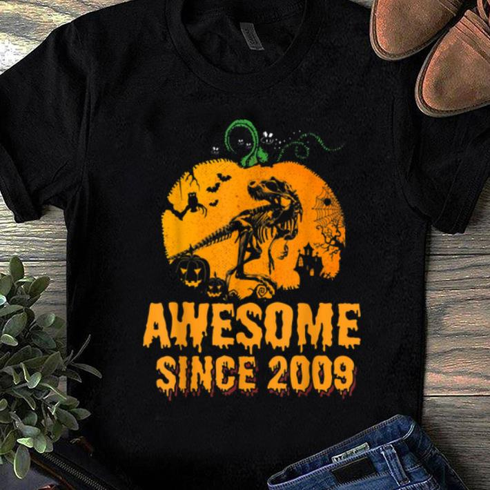 Funny Awesome Since 2009 10 Years Old Halloween Birthday Shirt 1 1.jpg