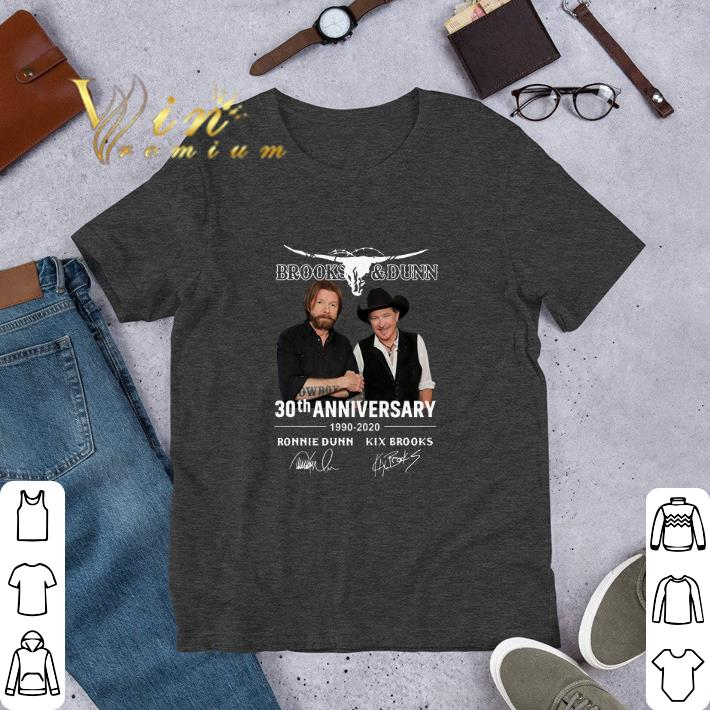 Funny Brooks Dunn 30th Anniversary 1990 2020 Ronnie Dunn Signatures Shirt 1 1.jpg