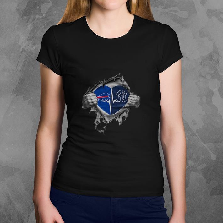 timeless design 81726 0e6c9 Funny Buffalo Bills It's in my heart New York Yankees shirt