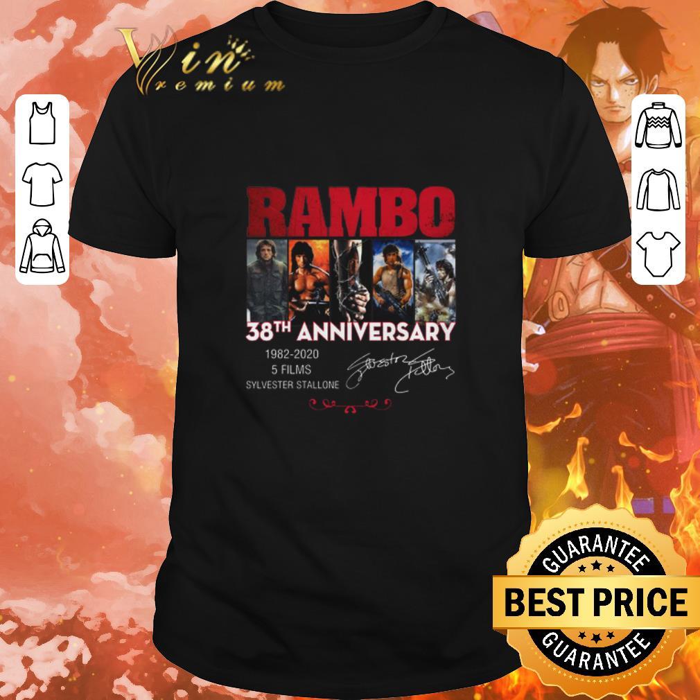 Funny Rambo 38th Anniversary 1982 2020 Sylvester Stallone Signatures Shirt 1 1.jpg