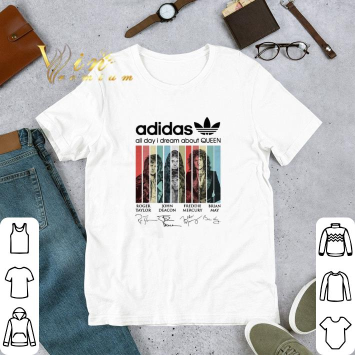 Funny adidas all day i dream about Queen signatures vintage shirt
