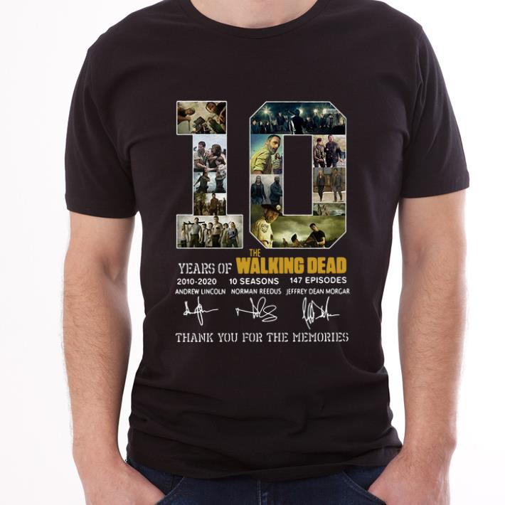 Hot 10 Years Of The Walking Dead Thank You For The Memories Signature Shirt 3 1.jpg