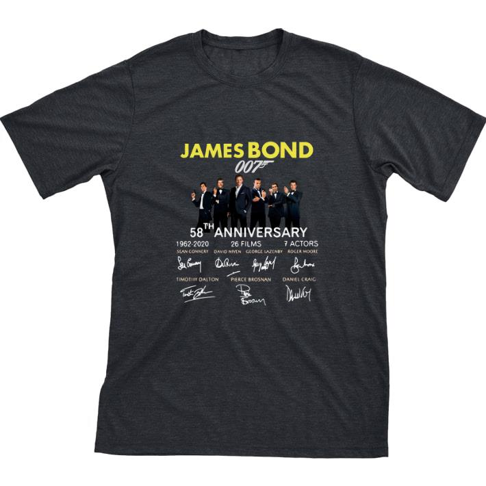 Hot 58th Anniversary James Bond 007 1962 2020 Signatures Shirt 1 1.jpg
