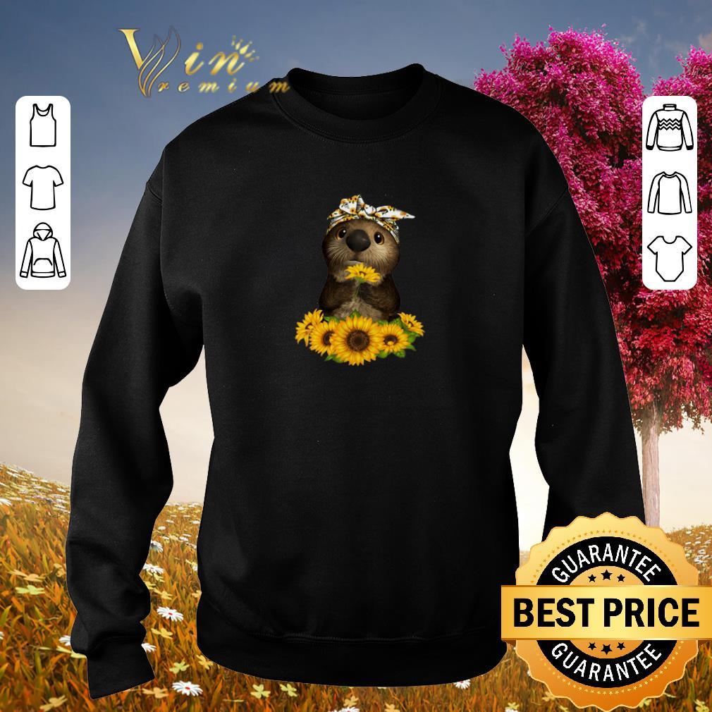 Hot Otter sunflowers shirt