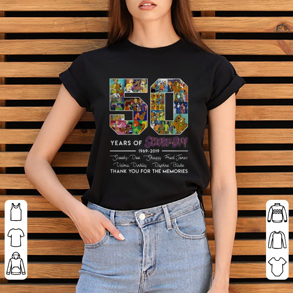 Nice 50 Years Of 1969 2019 Scooby Doo Signature Thank You For Memories Shirt 3 1.jpg