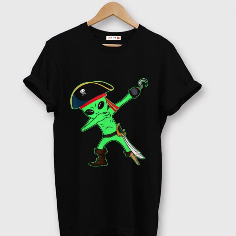 Nice Dabbing Alien Pirate Halloween Funny Dab Kids Boys shirt