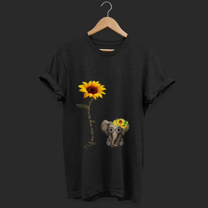 Nice You Are My Sunshine Hippie Sunflower Elephant shirt