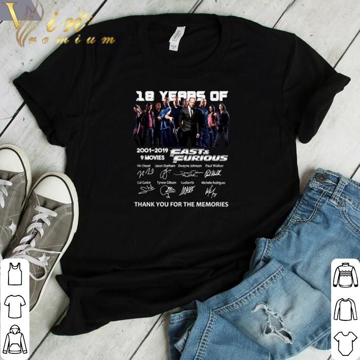 Official 18 Year Of Fast Furious 2001 2019 9 Movies Signatures Shirt 1 1.jpg