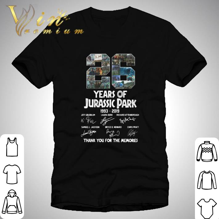 Official 26 Years Of Jurassic Park 1993 2019 Thank You For The Memories Shirt 1 1.jpg