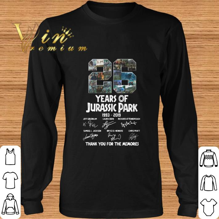 Official 26 Years Of Jurassic Park 1993-2019 Thank You For The Memories shirt