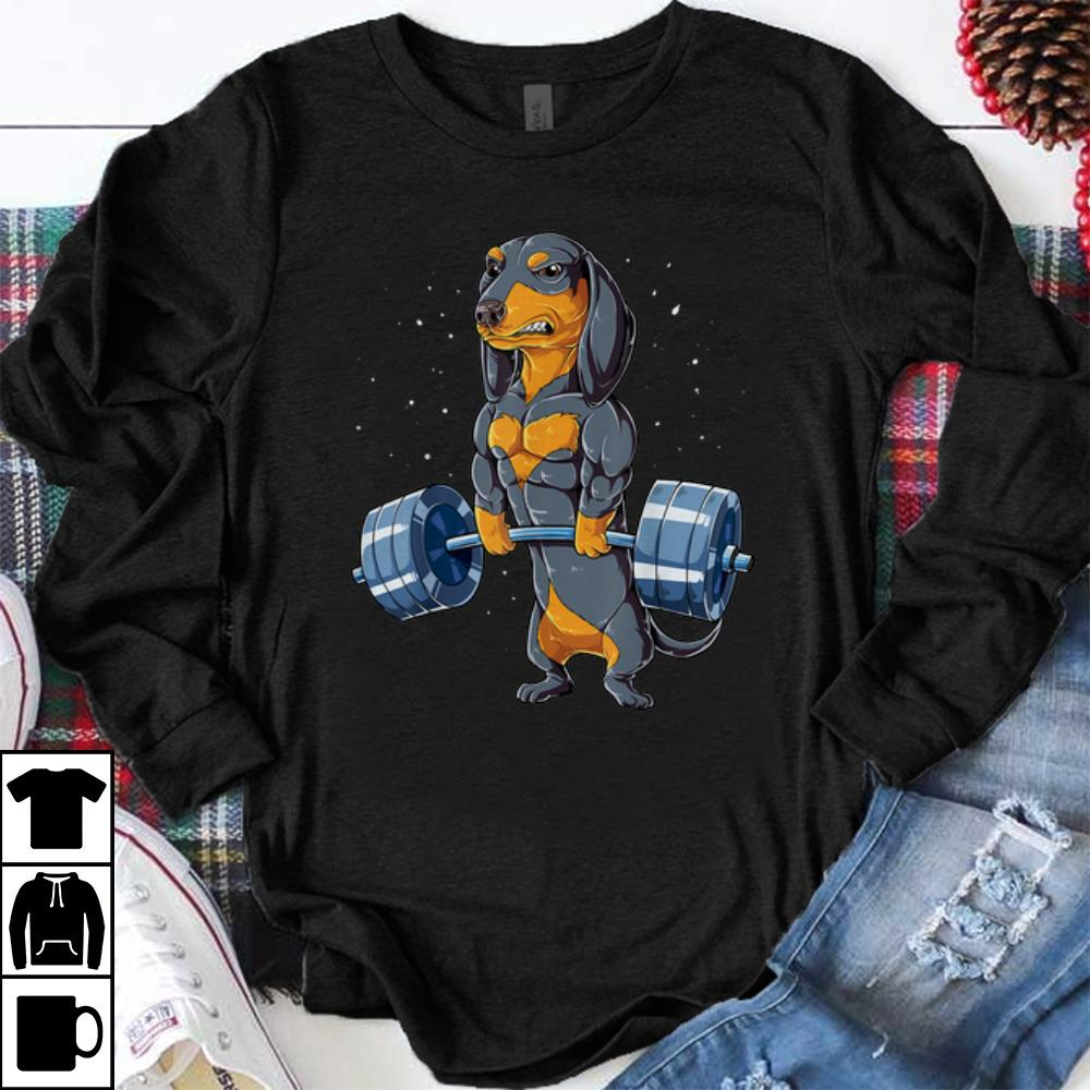 Official Dachshund Weightlifting Fitness Gym shirt