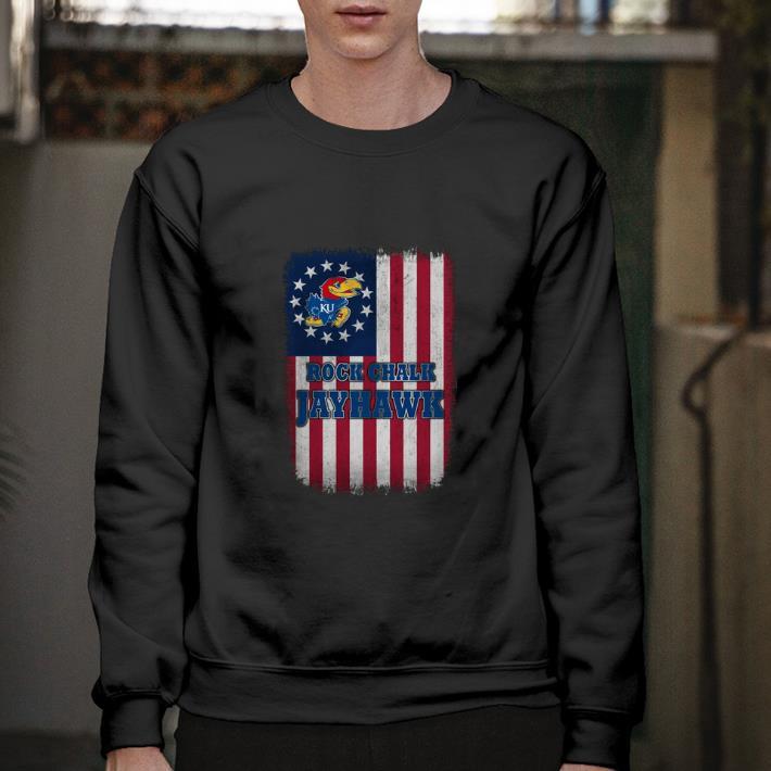 Official Rock Chalk Jayhawk Betsy Ross Flag shirt