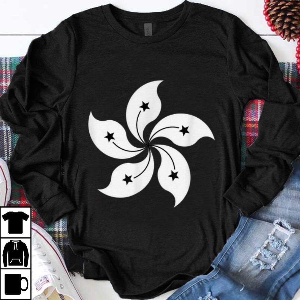 Premium Black Bauhinia Blakeana Hong Kong Rebel Flag shirt