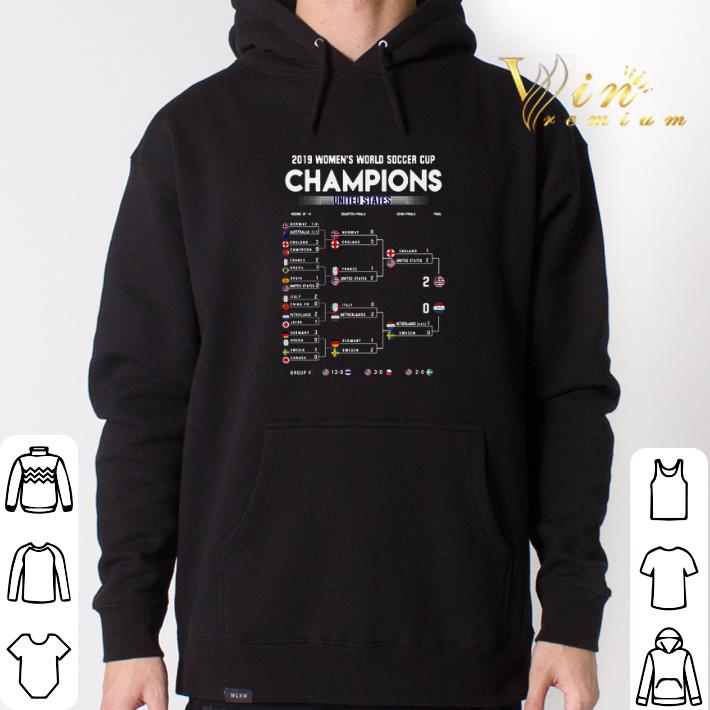 Premium List 2019 Women's World Soccer Cup Champions United States shirt