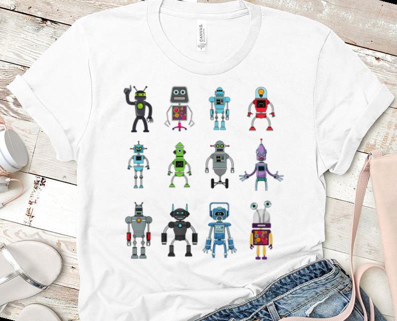 Premium Robot Emoji Ai Geek Science Robotics Vintage shirt