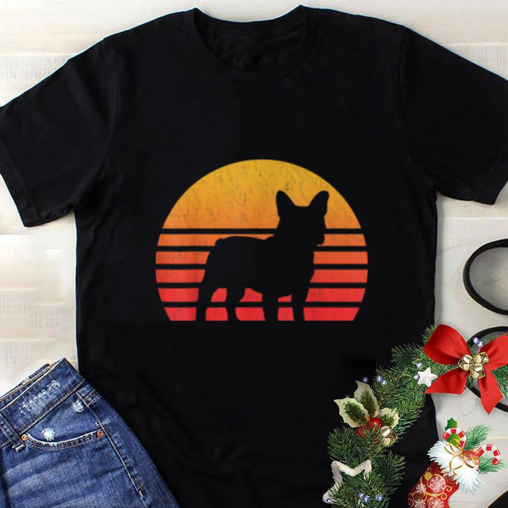 Premium Vintage Retro Sunset French Bulldog Silhouette shirt
