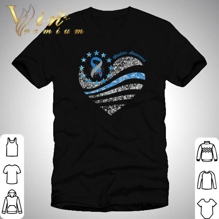 Pretty Glitter Diabetes Awareness Betsy Ross Heart Shirt 1 1.jpg