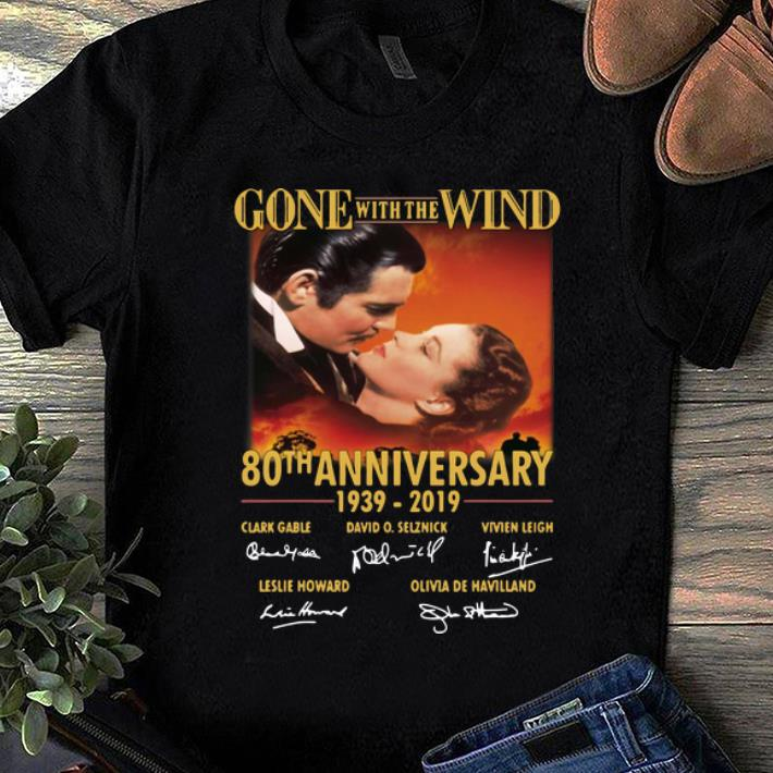 Pretty Gone with The Wind 80th Anniversary 1939-2019 Signature shirt